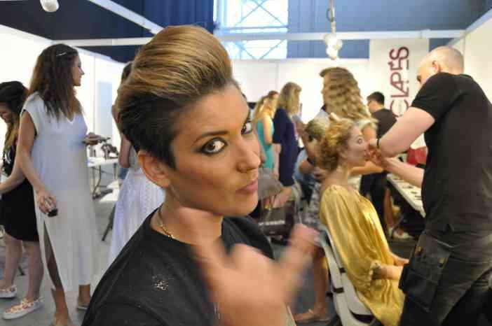 Vanesa Klein en el Backstage de Adlib Moda Ibiza by © Rocío Pastor Eugenio ® WOMANWORD