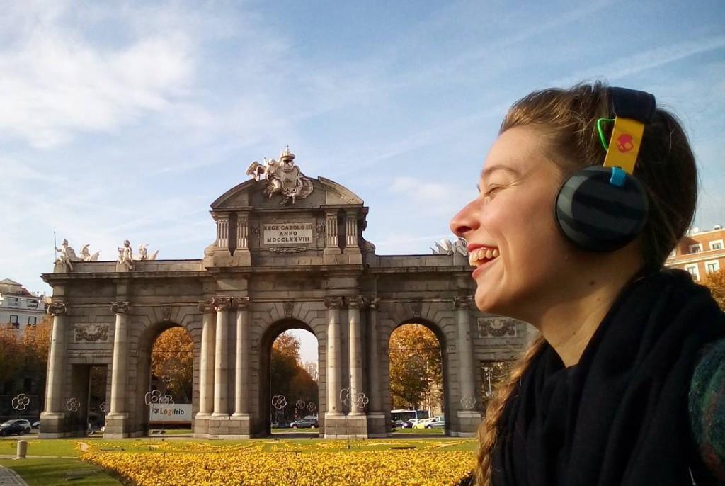 Selfie WOMANWORD en la Puerta de Alcalá