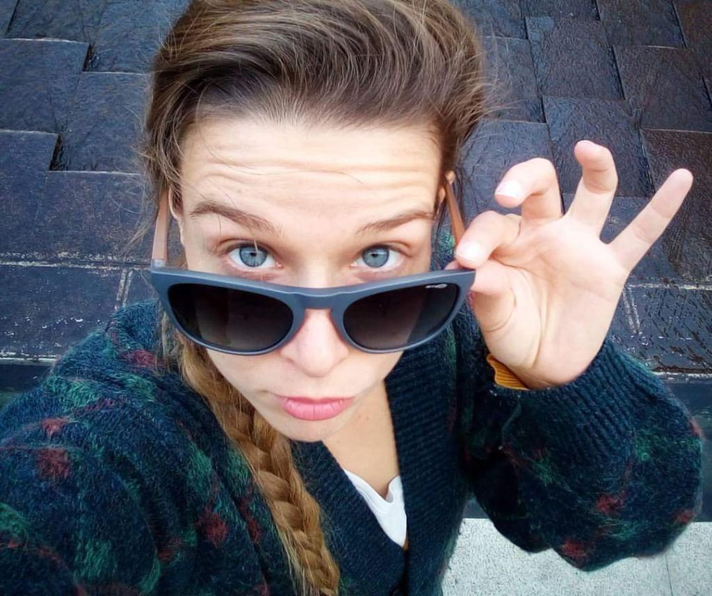 Selfie paseando por Madrid, siempre hay tiempo para una fotito